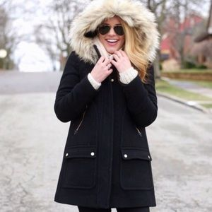 Nwt j.crew chataeu parka in black
